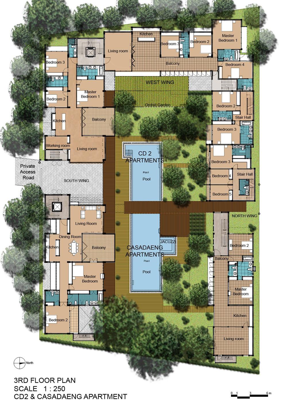 Atrium design architecture interior design consultant for Apartment master plans